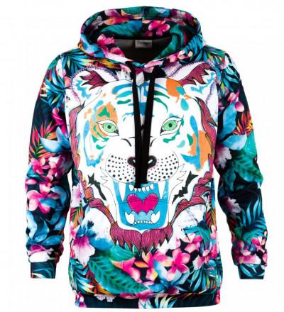 Printed hoodie Flower Tiger
