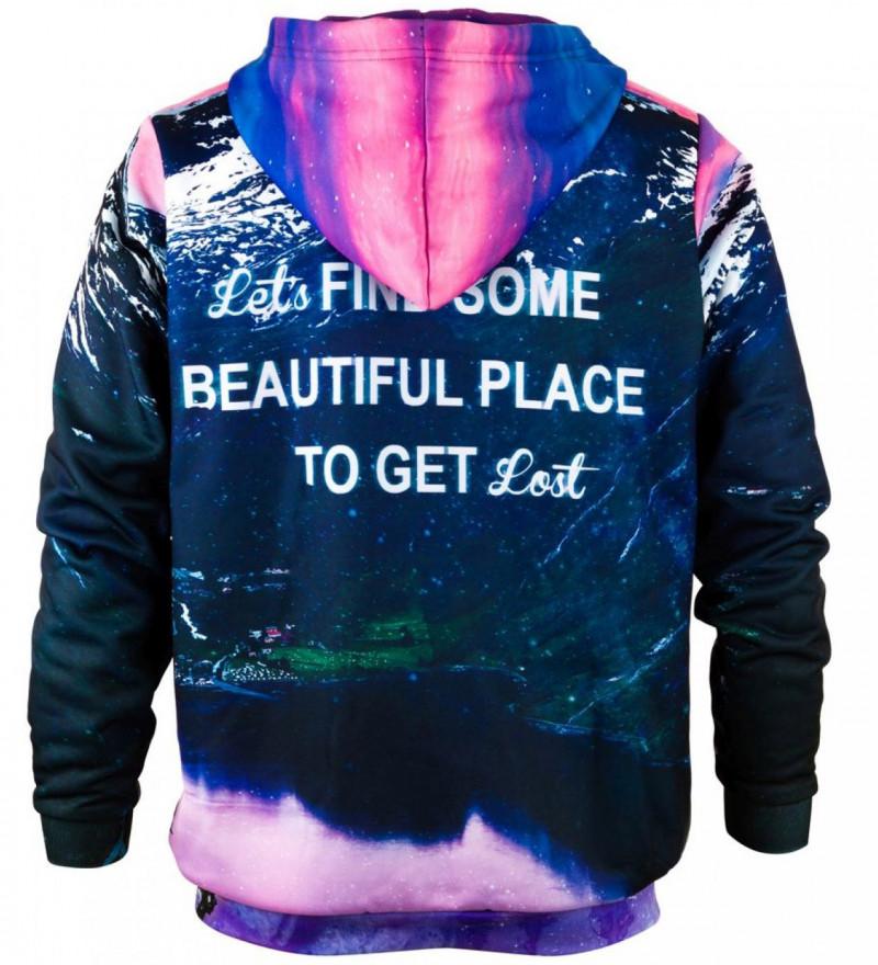 Printed hoodie Get Lost