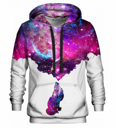 Bluse med hætte - Galactic Wolf