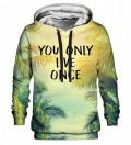 Printed hoodie Yolo