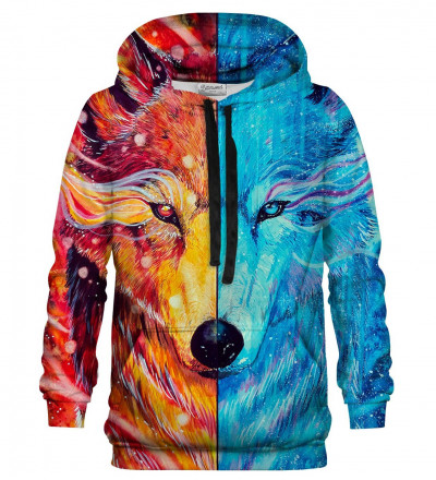 Printed hoodie Fire and Ice