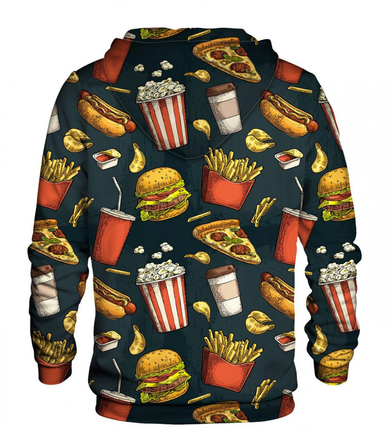 Printed hoodie Fast Food