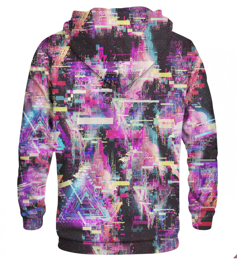 Printed hoodie Glitch