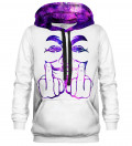 Printed hoodie Anonymous Message