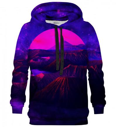 Printed hoodie Purple Fuji