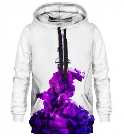 Printed hoodie Flying to the space