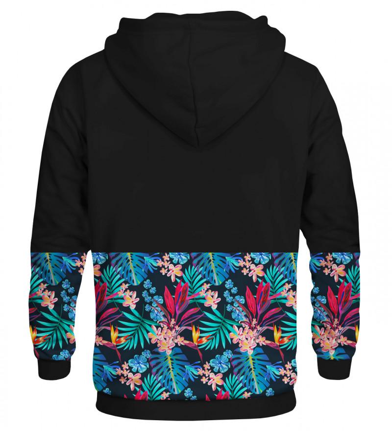 Printed hoodie Tropical Leaves