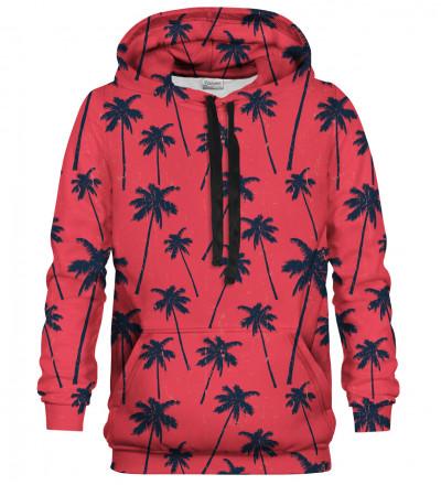 Printed hoodie Red Palms