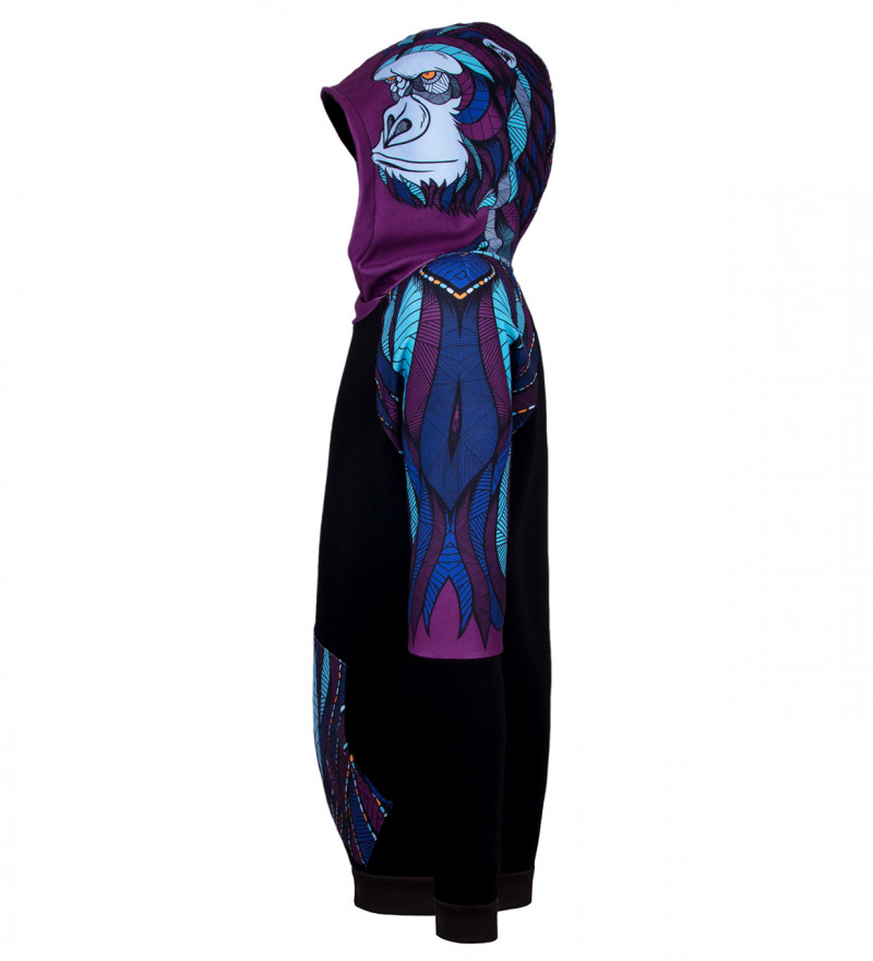Gorilla raglan hoodie
