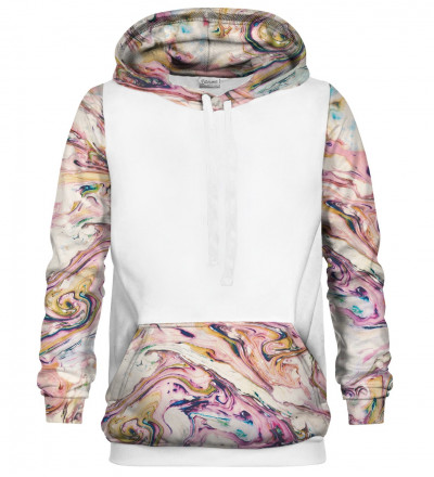 Marble cotton hoodie