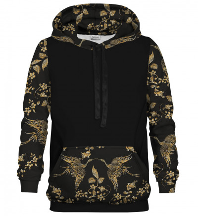 Golden bird cotton hoodie