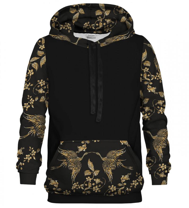 Golden bird cotton hoodie