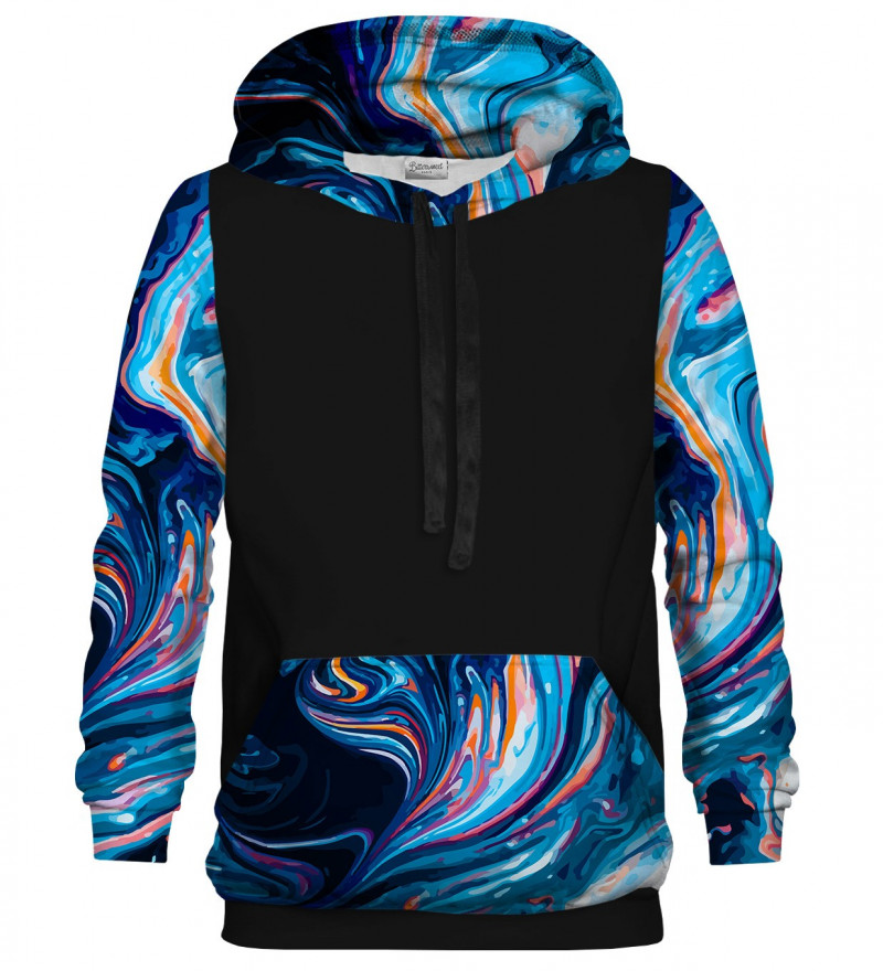 Blue Marble cotton hoodie
