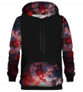 Red Galaxy cotton hoodie