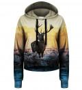 Deer beskåret hættetrøje
