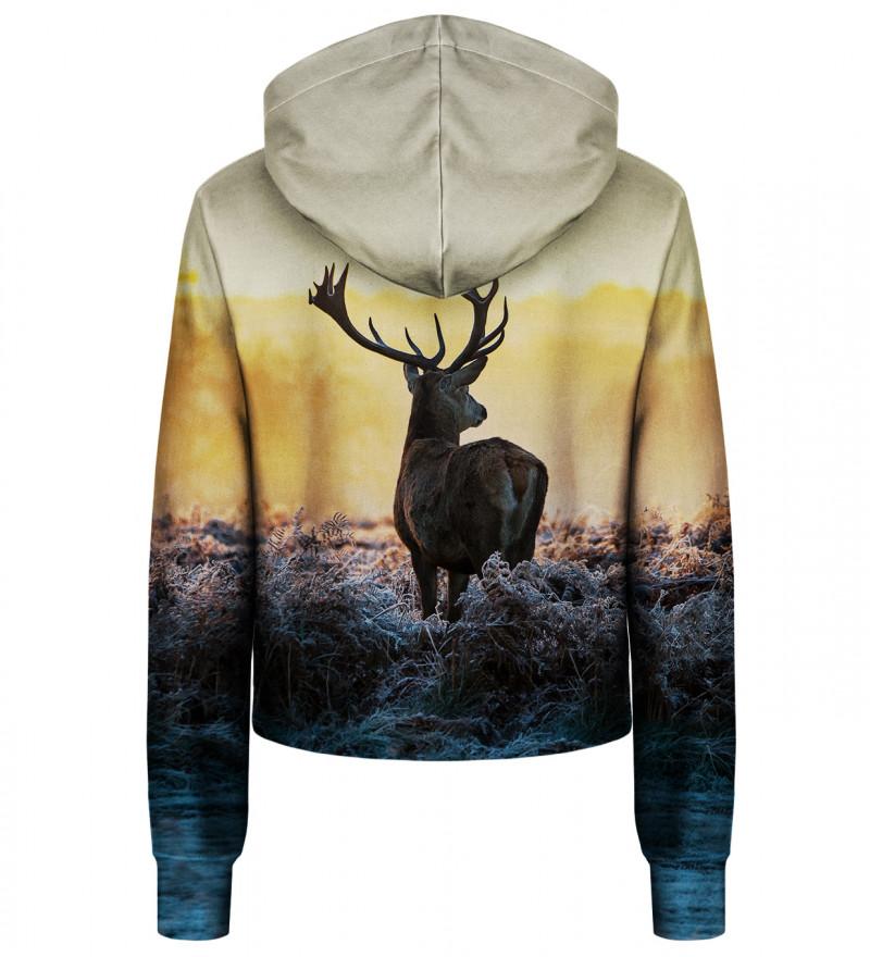 Deer cropped hoodie