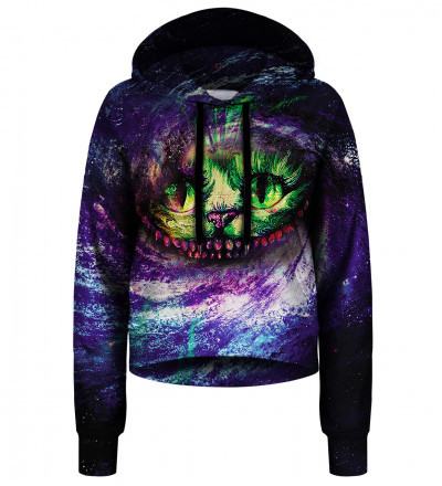 Magic Cat crop hoodie