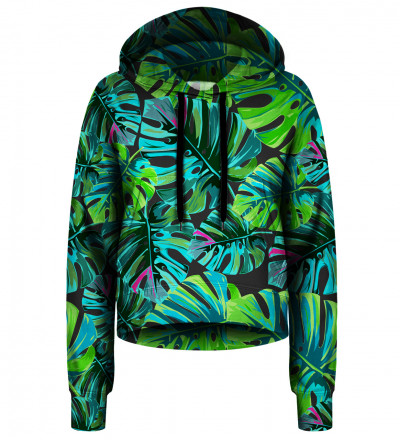 Tropical Colors cropped hoodie