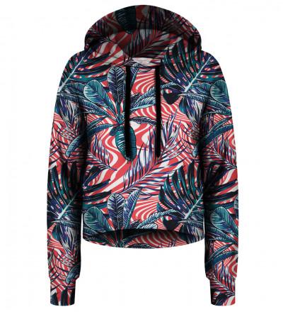 Crop hoodie Abstract flowers