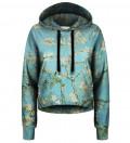 Crop hoodie Almond Blossom