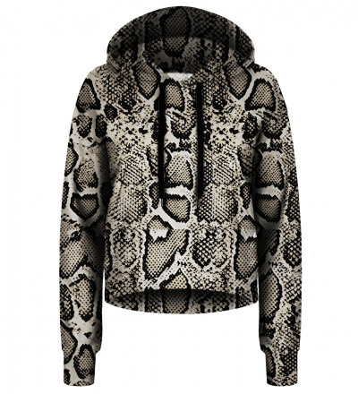 Crop hoodie Snake Skin