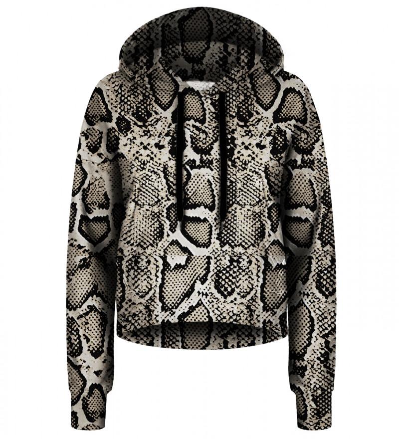 Snake Skin cropped hoodie
