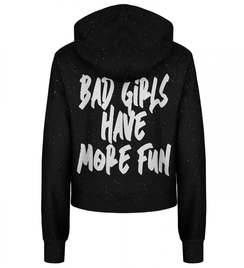 She's a rebel cropped hoodie