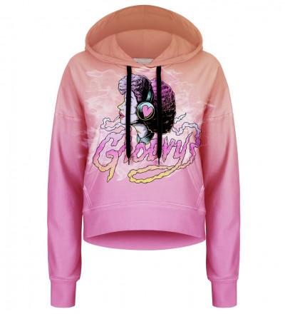 Groovy cropped hoodie