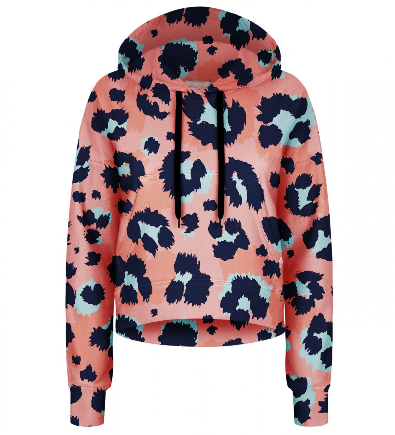 Panther Skin cropped hoodie