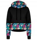 Crop hoodie Tropical Leaves