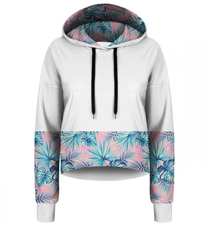Pink Paradise cropped hoodie