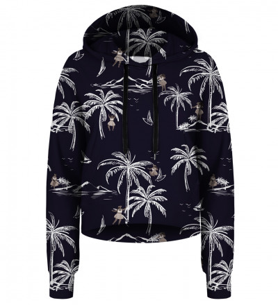 Hawaii Palms cropped hoodie