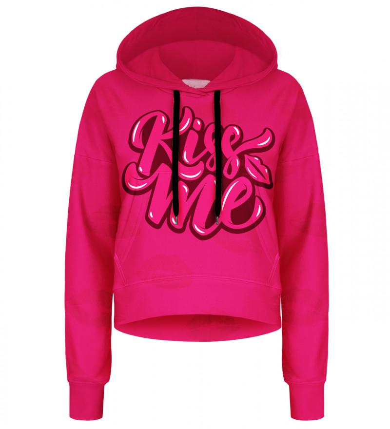 Crop hoodie Kiss Me