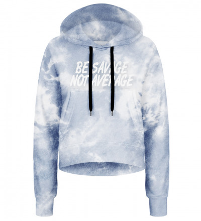 Tie dye cropped hoodie