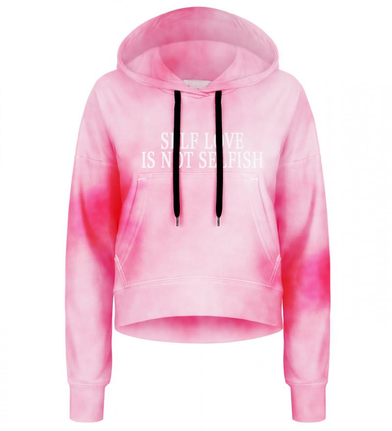 Tie dye pink cropped hoodie