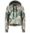Crop hoodie Jungle Flowers