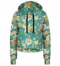 Paisley cropped hoodie