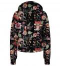 Crop hoodie Paisley Print