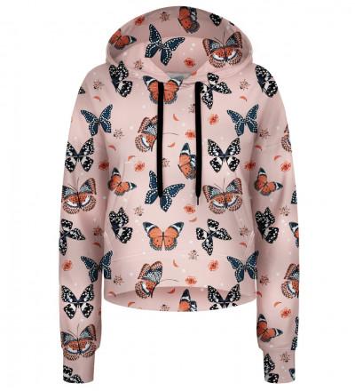 Butterflies cropped hoodie