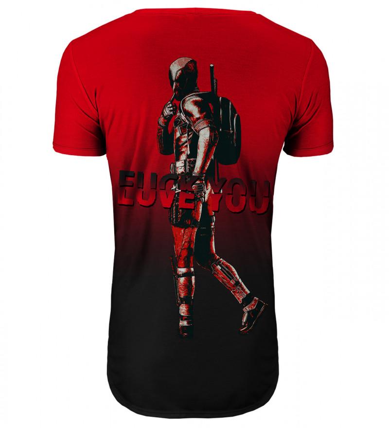 Przedłużany t-shirt Fuck/Love you