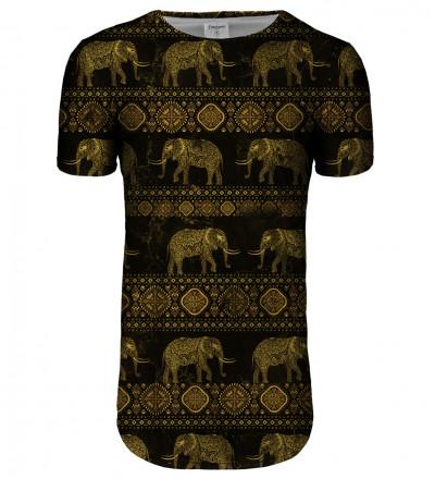 Golden Elephants longline t-shirt