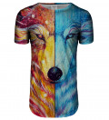 Fire and Ice longline t-shirt