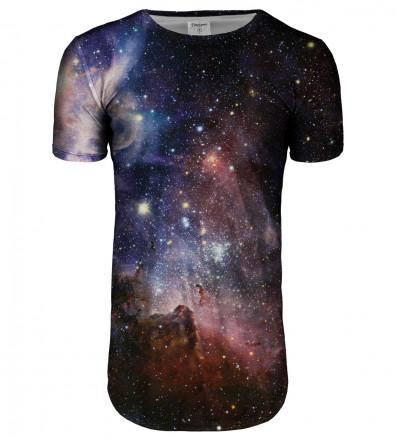 Purple Galaxy longline t-shirt
