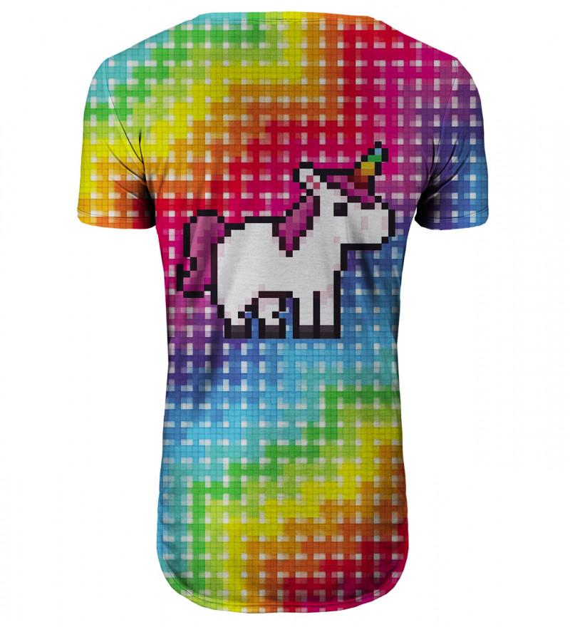Pixel Unicorn longline t-shirt