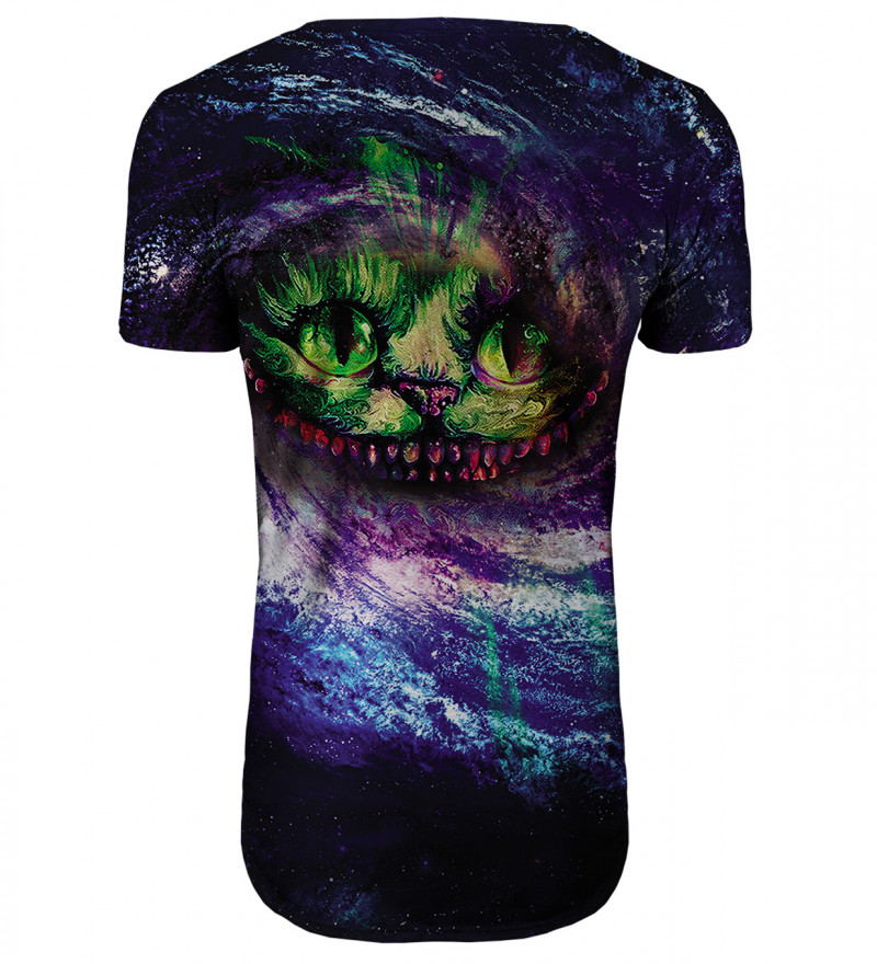 Magic Cat longline t-shirt