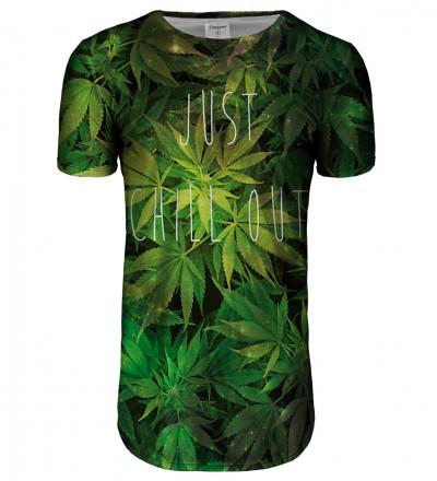 Przedłużany t-shirt Weed