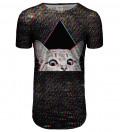 Technocat longline t-shirt
