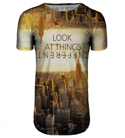 Perspective longline t-shirt