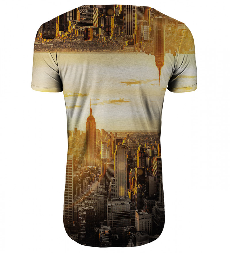 Perspective longline t-shirt