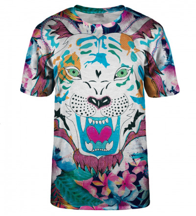 T-shirt Flower Tiger